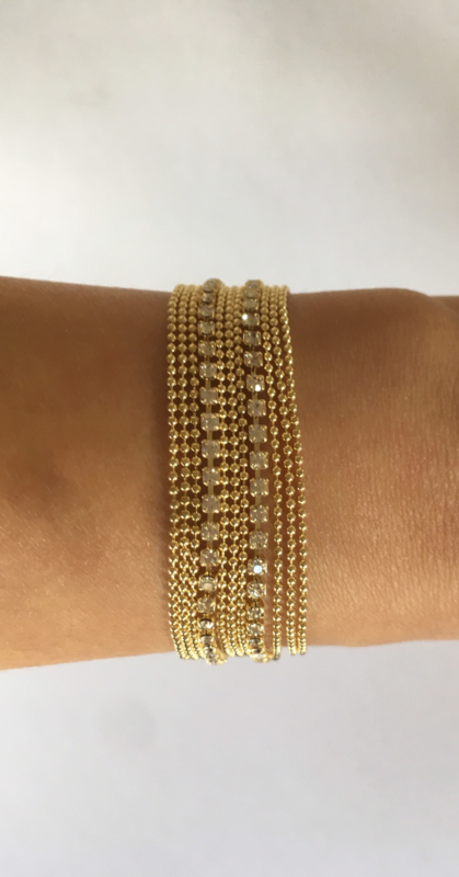 "Armband ""diamanten"" details"