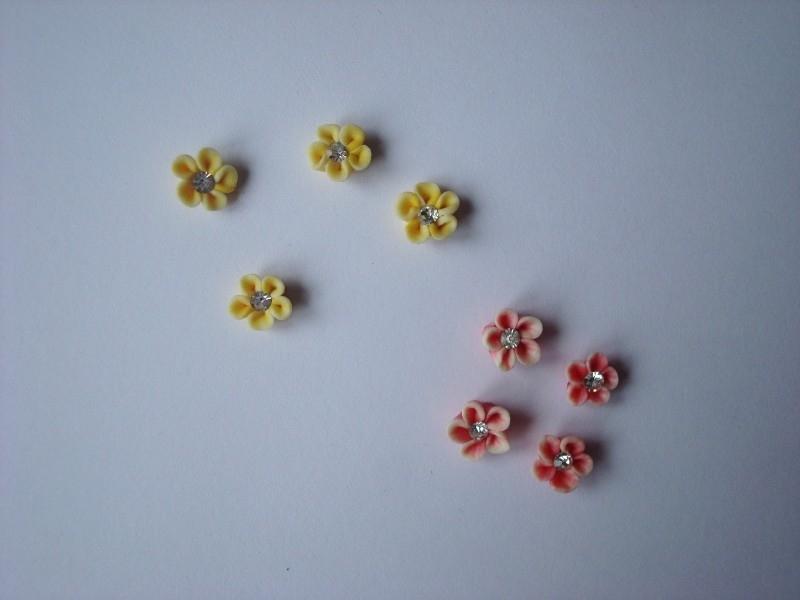 3D Bloesem +diamantje (48stuks)