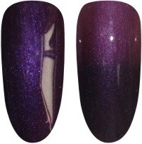 gel polish Chameleon-28 pearly dark purple