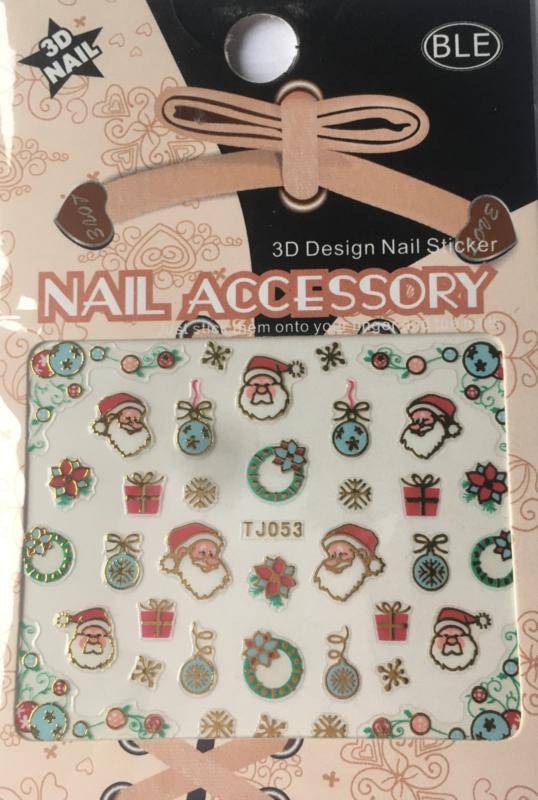 TJ53 Kerst nagelsticker