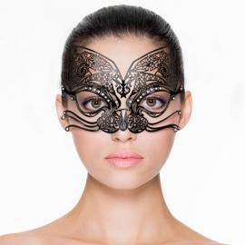 Opengewerkt Venetiaans masker - zwart