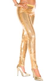 Gouden legging met pailetten
