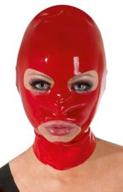 Latex hoofdmasker - rood