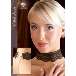 Zwarte kanten halsband