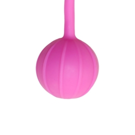 Vaginale balletjes verticale ribbels - roze