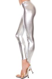 Metallic legging - zilver