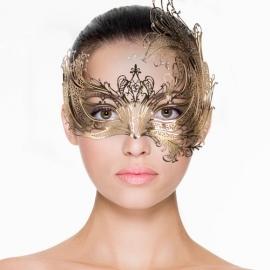 Open Venetiaans masker - goudkleurig