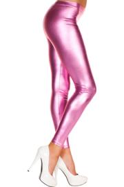Metallic legging - roze