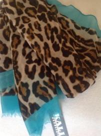 Sjaal tijger/blauw