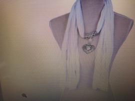 Sjaal wit 40x165