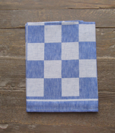 Glazendoeken Holland linnen blauwe ruit