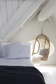 Dekbedovertrek House in Style Berlin light blue halflinnen 140x220