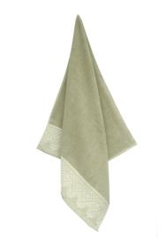 Keukendoek (handdoek) Elias Lace groen katoen/linnen zeer luxe kwaliteit