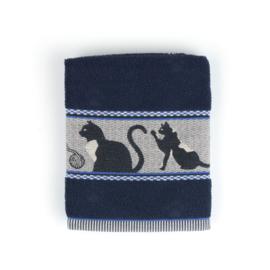 Keukendoek (handdoek) Bunzlau Castle donkerblauw  kat