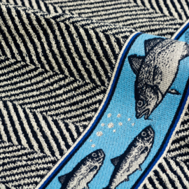 Keukendoek (handdoek) Bunzlau Castle Fish dark blue