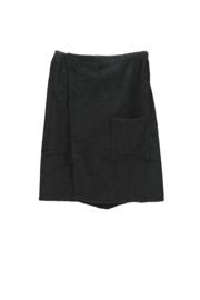A&R heren saunakilt badstof verstelbaar met klitteband kleur black