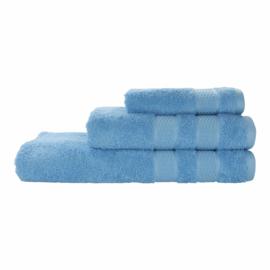 Elias handdoek Fresh 50x100 cm set 2 stuks kleur ocean blue