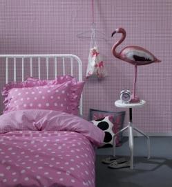 Dekbedovertrek percaline Damai dotty spotty pink 1 persoons