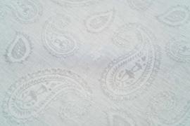 Kayori Mato DBO linnen zilvergrijs met paisley print