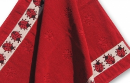 Keukendoek (handdoek) Elias  Classic lieveheerbeestje