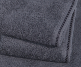 A&R saunalaken 100x210 cm  graphite badstof