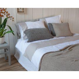House in Style dekbedovertrek Veneto white/sand