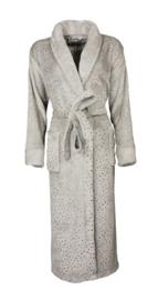 Dames badjas Irresistible superzachte coral fleece kleur grey melange S t/m XXXL