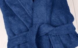 Badstof badjas met capuchon A&R 100% katoen french navy XXS t/m XXXL