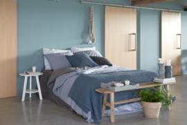 House in Style dekbedovertrek Palau katoenen percal kleur Blue Grey