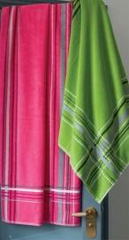 Saunalaken Lasa Cross 90x200 cm pink, groen en aqua