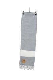 A&R original luxe hamam doek Marmaris 100x180 cm dark grey/white