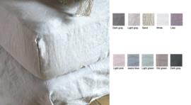 Passion for Linen hoeslaken 100% linnen in verschillende kleuren leverbaar