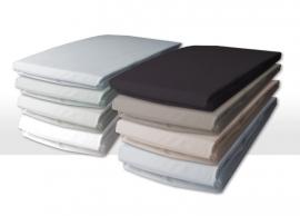 Damai hoeslakens voor matras met bi-inkeping/enkele split extra hoge hoek (40) organic percal voor matrashoogte van 25 t/m 35 cm