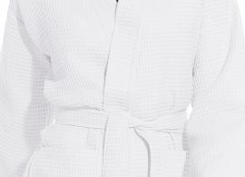 Badjas Vossen Rom zomer wafelbadjas wit (030) XS t/m XL