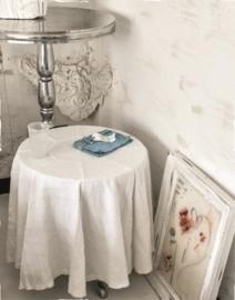 Tafelkleed Arte Pura Clementina voor een ronde tafel 100% linnen met of zonder kant vanaf