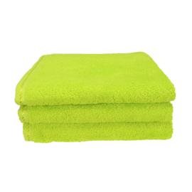 Handdoek A&R 50x100 cm lime groen set 3 stuks