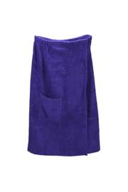A&R dames saunakilt badstof verstelbaar met klitteband kleur purple