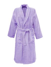 Badstof badjas A&R met sjaalkraag 100% katoen light purple XXS t/m XXXL