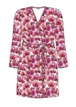 Taubert Funky orchid kimono badjas velours pink 36 t/m 46