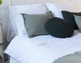 House in Style dekbedovertrek Geneve 100% katoen met embroderie kleur wit