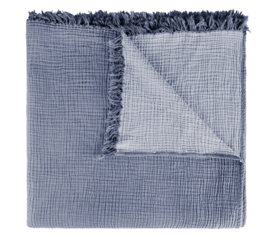 House in Style plaid Santorini double face indigo/ light blue 200x240 cm
