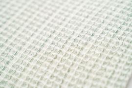 Kayori Yoko dekbedovertrek groen wafel 100% katoen percal