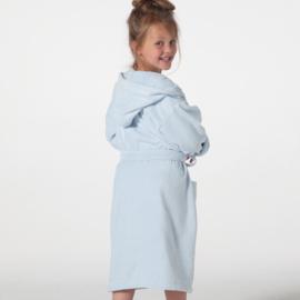 Kinderbadjas Seahorse pure velours badstof  kleur gentle blue 122  t/m 164