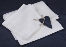 Vlaslinnen tafelkleed wit diverse maten leverbaar