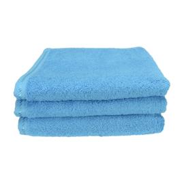 Handdoek A&R 50x100 cm aqua set 3 stuks