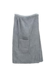 A&R dames saunakilt badstof verstelbaar met klitteband kleur antracietgrijs