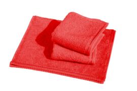 Gastendoekjes A&R 30x50 cm rood set 6 stuks