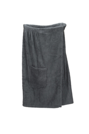 A&R dames saunakilt badstof verstelbaar met klitteband kleur graphite