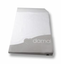 Damai nightkiss topcover voor topperhoogte 8 cm molton met dubbele split