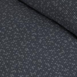 Damai dekbedovertrek Scale katoen steel blue
